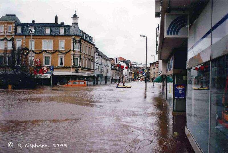 Bad Kreuznach: Hochwasser Dezember 1993
